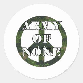 ARMY OF NONE CLASSIC ROUND STICKER