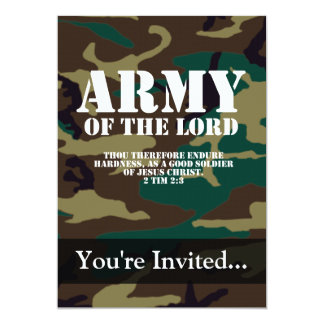 Army of the Lord, Bible Scripture Camo 13 Cm X 18 Cm Invitation Card