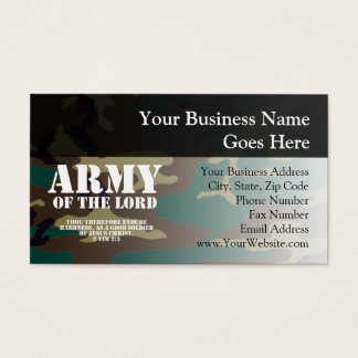 Army of the Lord, Bible Scripture Camo Business Card
