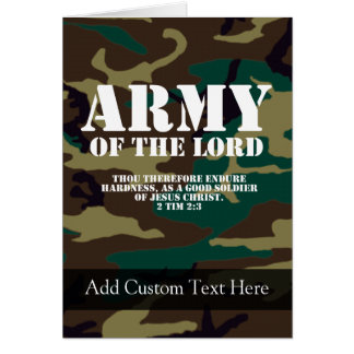 Army of the Lord Bible Scripture Camo Cards