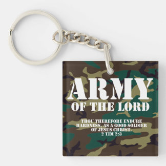 Army of the Lord, Bible Scripture Camo Key Ring