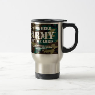 Army of the Lord, Bible Scripture/Name Travel Mug