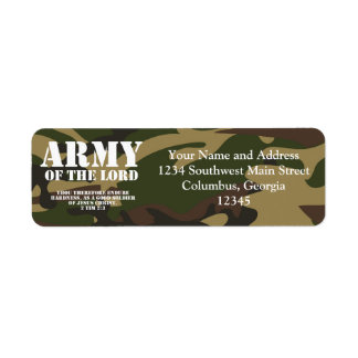 Army of the Lord Return Address Label