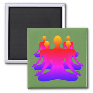 Army of Zen Square Magnet - Green