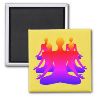 Army of Zen Square Magnet - Yellow