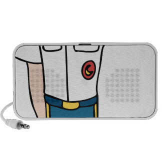 Army Officer Man Cartoon Character iPhone Speaker