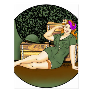 Army Pin-Up Postcard