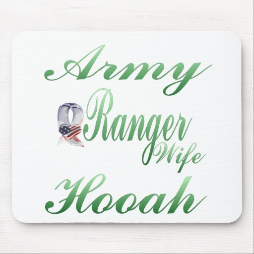 army ranger wife hooah mouse pad