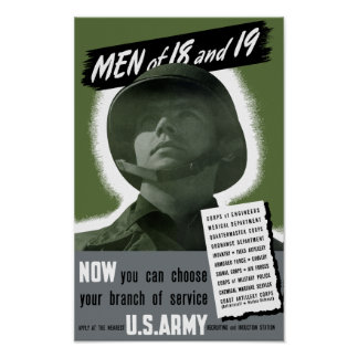 Army Recruiting Poster -- WWII
