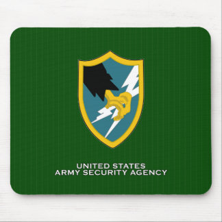 Army Security Agency shoulder patch Mouse Pad