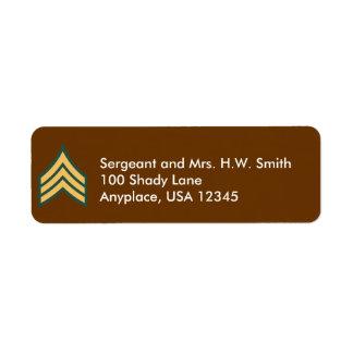 Army Sergeant Address Label