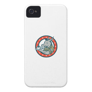 Army Sergeant Donkey Coffee Circle Cartoon iPhone 4 Cover