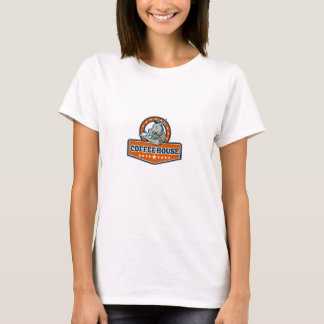 Army Sergeant Donkey Coffee House Cartoon T-Shirt