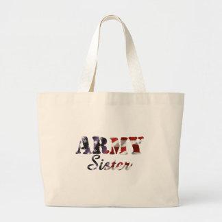 Army Sister American Flag Tote Bags
