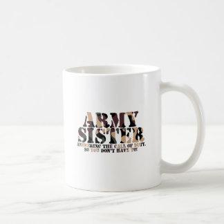 Army Sister Answering Call Coffee Mug