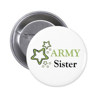 Army sister pinback button