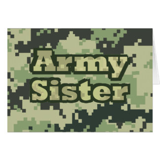 Army Sister Cards