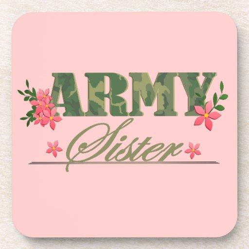 Army Sister Beverage Coaster