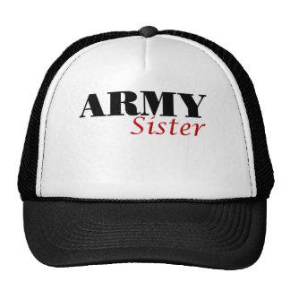 Army Sister (cursive) Mesh Hats