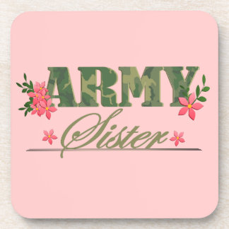 Army Sister Drink Coaster