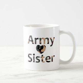 Army Sister Heart Camo Coffee Mug
