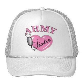 Army Sister Heart N Dog Tag Hats