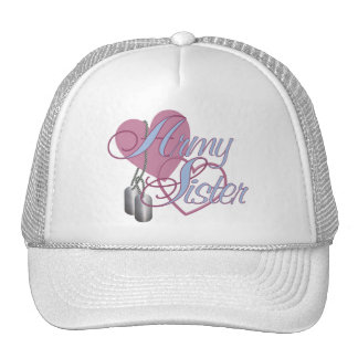 Army Sister Hearts N Dog Tags Cap