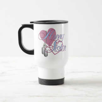 Army Sister Hearts N Dog Tags Travel Mug