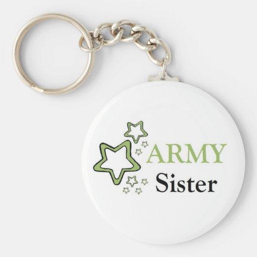 Army sister key chains