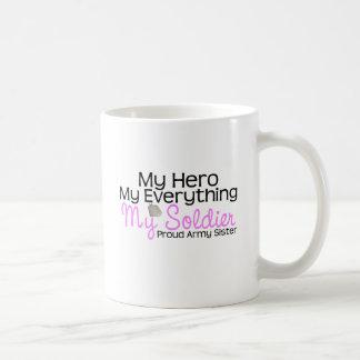 Army Sister My Hero Basic White Mug