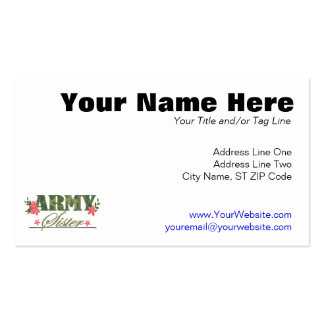 Army Sister Pack Of Standard Business Cards