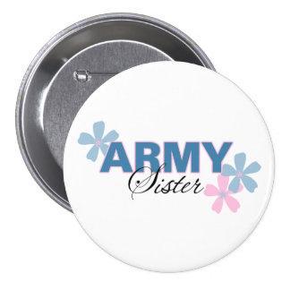 Army Sister Pinback Button
