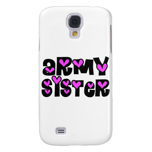 Army Sister Pink Hearts HTC Vivid Cover