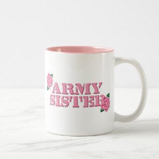 Army Sister Pink Roses Mug