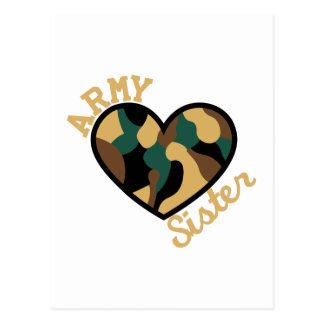 Army Sister Postcard