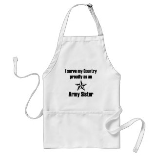 Army Sister Serve Proudly Standard Apron