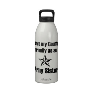 Army Sister Serve Proudly Drinking Bottle