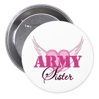 Army Sister Wings Pinback Button