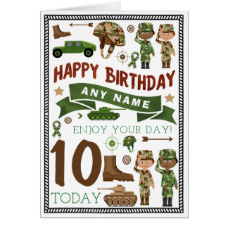 Army Soldier Personalised Birthday Card