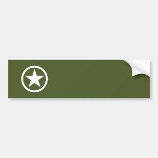 Army Star Bumper Sticker
