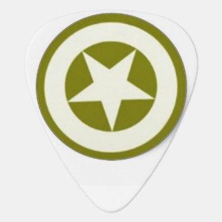 Army Star Guitar Pick