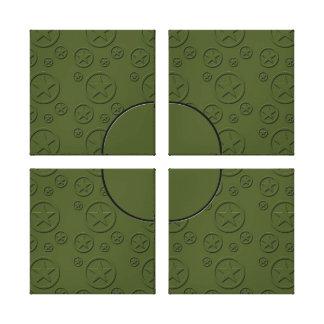Army Star pattern Gallery Wrap Canvas