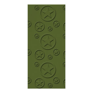 Army Star pattern Custom Rack Card