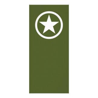 Army Star Rack Card Template