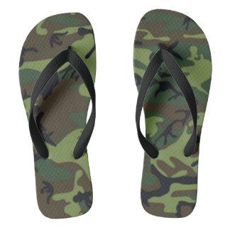 Army style camo thongs