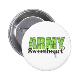 Army Sweetheart Pinback Button