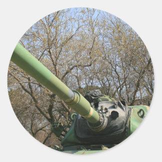Army Tank Round Sticker
