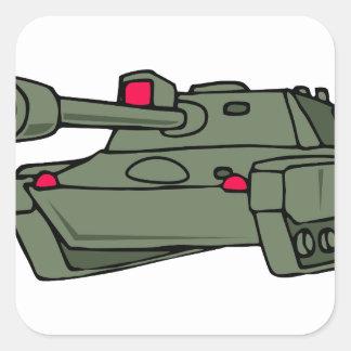 ARMY TANK SQUARE STICKER