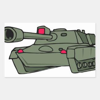 ARMY TANK RECTANGULAR STICKER