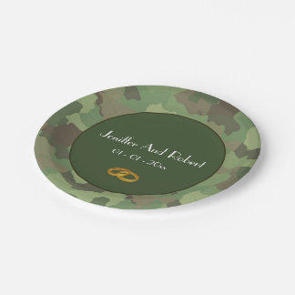 Army themed wedding paper plates